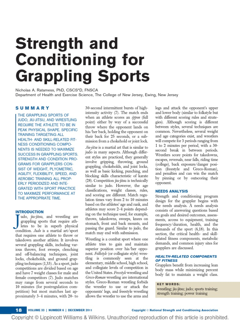 Strength and Conditioning for Grappling Sports 4 | Brazilian