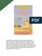 The Monuments and Memoribilia of Guru Arjan Dev Ji