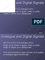 Analogue and Digital Signals