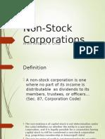 Non Stock Corporations