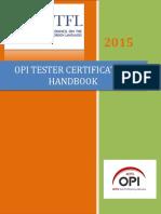 Op i Tester Certification Brochure 2015