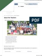 About the Teachers - Gaia House