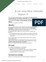 Disque USB Sur Machine Virtuelle Hyper-V _ Arx One