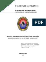 PROYECTO DE PROFUNDIZACIÓN DE LA MINA CHIPMO – ORCOPAMPA MEDIANTE LAS RAMPAS 21 Y 22