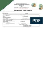 Needs Assessment Questionnaire Ko