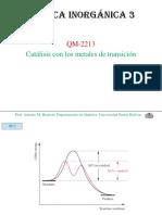 Química Inorgánica 3 Catálisis Clase 9 (Antonio Barriola)