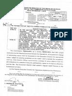 Agenda regarding Canvassing Venue (COMELEC Minute Resolution No. 16-0123)