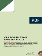 CPA Board Exam Quizzer vol. 2