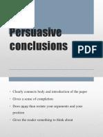 persuasive conclusions