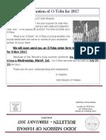 Jodo Mission Bulletin - February 2017