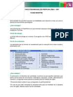 Requisitos para asignación de clase muestra