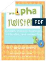 alpha twisters alphabet activities