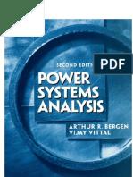 Arthur R. Bergen, Vijay Vittal Power Systems Analysis [OCR]