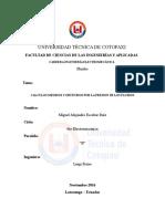 VALORES MEDIDOS Y CALCULADOS PRESION DE FLUIDOS
