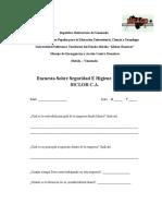 Encuesta Sobre Higiene y Seguridad Industrial SICLOR C.a.