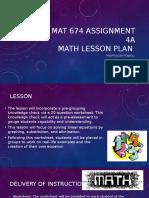 mat 674 assignment 4a steven bambauer
