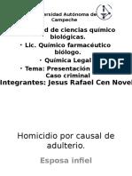 Presentación de Química Legal