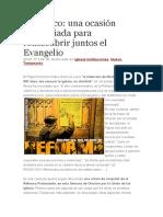 Francisco, Una Ocasión Privilegiada Para Redescubrir Juntos El Evangelio