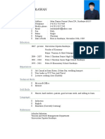 Contoh CV Internship