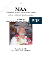 Maa'n Published by Noore Hidayat Foundation Lucknow. English