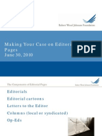 Making Your Case on Editorial Pages