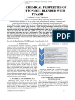 INDEX AND CHEMICAL PROPERTIES OF BLACK COTTON SOIL BLENDED WITH FLYASH