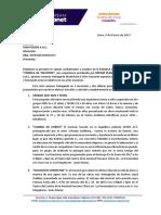 Carta Auspicios Umifoods