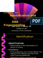 Lec 4 - Part 1 Identification & DNA Fingerprinting