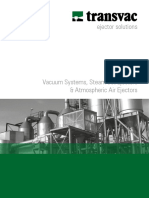 Vacuum, Steam Ejectors, Atmospheric Air Ejectors