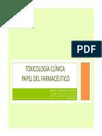 PPT_Toxicologia Clinica-Papel Del Farmaceutico CAMPINO
