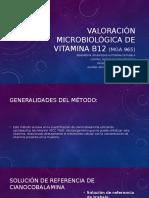 Valoración Microbiológica de Vitamina B12 (MGA 965