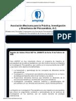 Maestría en Investigación Psicoanalítica _ Maestria en Psicoanalisis