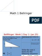 week 1 bellringer 2016