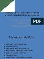 Normalidad y Anormalidad de Pulso Arterial San Marcos 2013
