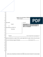 Sample Points and Authorities in Support of Ex Parte Application for a Right to Attach Order