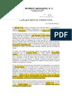 Consideraciones Código Civil Federal y Local