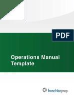 Restaurant OPS Manual TOC