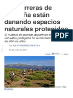 Las Carreras de Montaña Están Dañando Espacios Naturales Protegidos