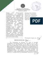 Political Parties (COMELEC Resolution No. 9984)