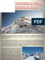 A Short Introduction to Pisang Peak Climbing in Nepal