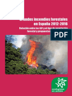 Grandes Incendios Forestales en España 2012-2016