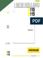 New Holland b110 b115 en Service Manual