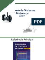 Controle de Sistemas Dinamicos - Aula I.pdf