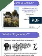 Ergonomics At