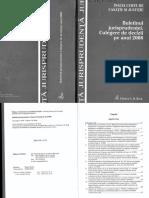 Buletinul Jurisprudentei. Culegere de Decizii Pe Anul 2008 - ICCJ