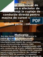Testarea Metodelor de Supresare a Efectelor de Interferenta in Cuplade de Conductie Directa Pentru Masina de Curent Continuu Cu Sistem Perie - Colector