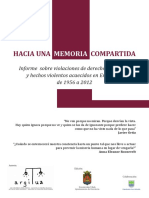 HACIA UNA MEMORIA COMPARTIDA