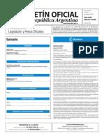 Boletín Oficial de la República Argentina, Número 33.555. 30 de enero de 2017