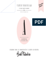 Agenda de Boda 2017 Flor de Toxo Design