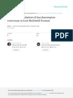 Jove Protocol 54584 Efficient Sporulation Saccharomyces Cerevisiae 96 Multiwell